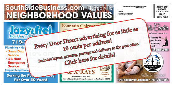 Every Door Direct mail products from Easy Street Designs